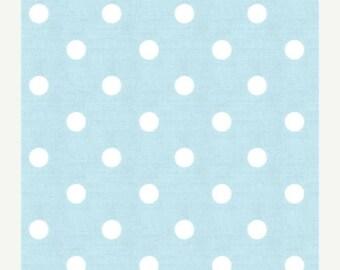 """ON SALE NOW Sample Sale Runner 20""""-40""""  Polka Dot White on Mist Blue Wedding table runner clearance rpst"""