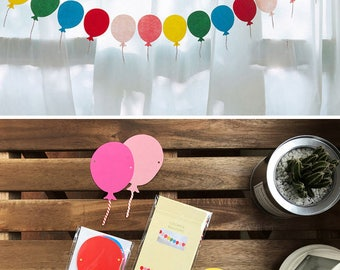 Easy DIY Paper Bunting, Party Flag, Home Decoration - Colorful Balloons
