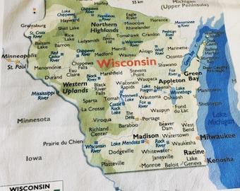 Wisconsin State Dishtowel