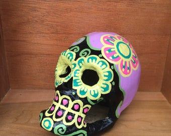 Day of the Dead paper mache sugar skull