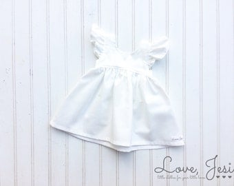 White Baby Dress, Baby Girls Dresses, Little Girls Dress, Dresses for Little Girls, Baby Girl Holiday Dress, White Girls Dress, Little Girls