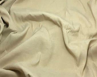 BEIGE Silk Crepe Fabric - 1/3 Yard