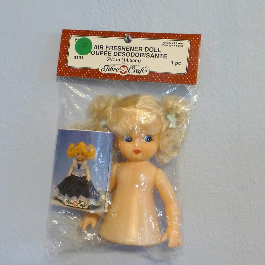 Fibre craft air freshener dolls - Fibre Craft Air Freshener Doll Supply Vintage New In Package 3101 With Pattern