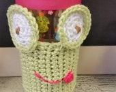 Frog Mug Cozy Great Gift Idea, Crocheted,coffee or tea mug cozy,tween, mom,teacher gift