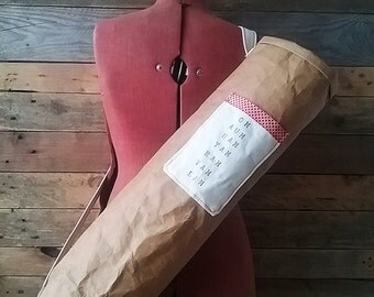 Contemporary Natural Yoga Bag Made From Washable Paper Fabric