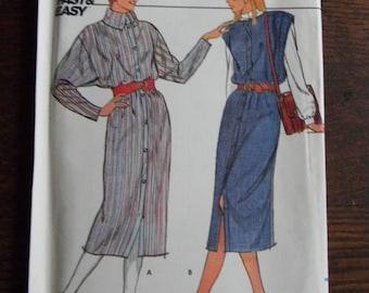 Vintage Butterick Misses Dress and Jumper Pattern # 4735 Uncut Sizes 8 thru 16
