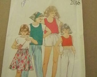 Vintage New Look Girls Outfits Pattern #2036 Uncut Multisized