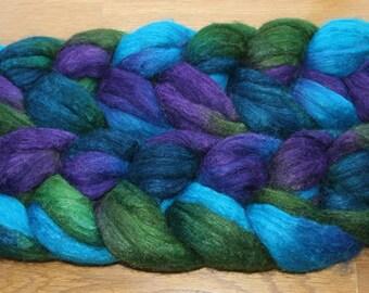 Polwarth Tussah Silk Spinning Fiber - 'Forest Glen'
