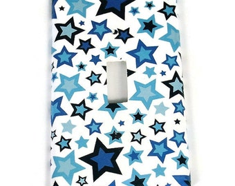 Wall Decor Light Switch Cover  Switch Plate Switchplate in Star Blue  (262S)