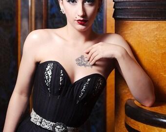 Ecosse Noir new look style corset
