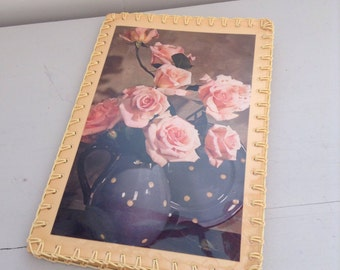 Vintage Craft Document Folder dates 1950's so pretty Roses design