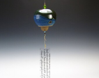 Blue Green Wind Bell