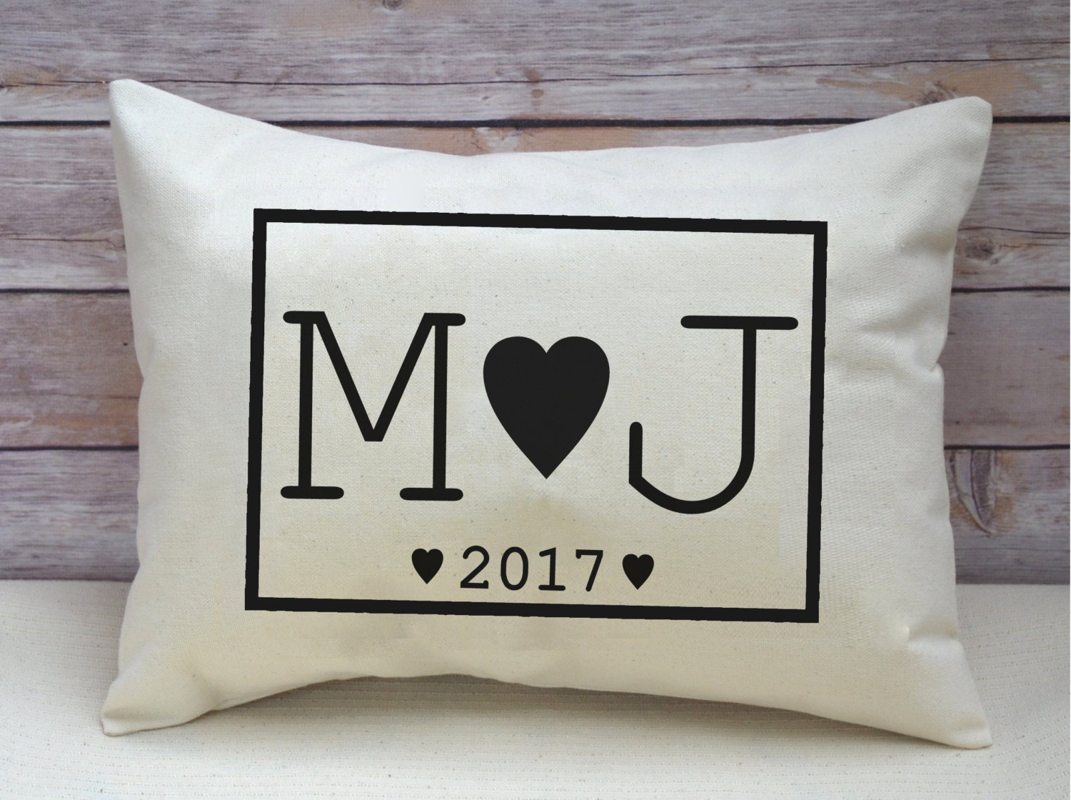 Unique Wedding Gifts For Second Marriage: Black Monogram Co Wedding Gift 2nd Anniversary Cotton