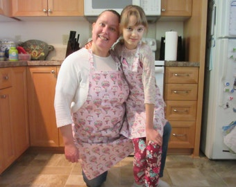 mommy and me - womens aprons - Dreams Take Flight
