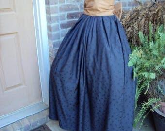 Victorian skirt, Civil war skirt, with sash, Adult skirt, Oklahoma skirt