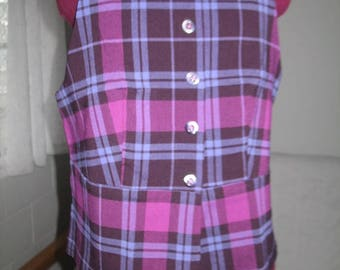 Beautiful Vintage Purple Plaid Halter Top