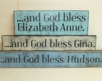 PERSONALIZED BABY SIGN / Custom newborn sign / baby blessing sign / God bless baby sign / hand painted sign / /custom baby gift /baby sign