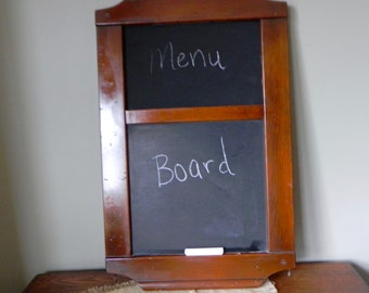 Vintage chalkboard display menu board message board