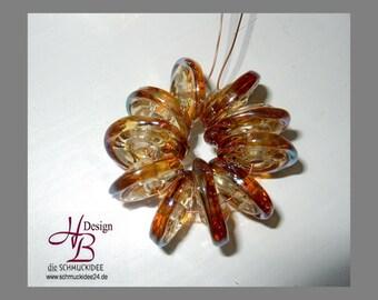 10 Disk, Beadset, SRA #B131,colorful beads set, Lampwork, Murano