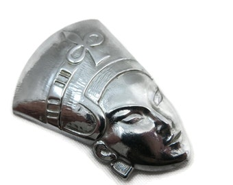Egyptian Brooch - Sterling Silver, TruArt, Figural, Egyptian Queen