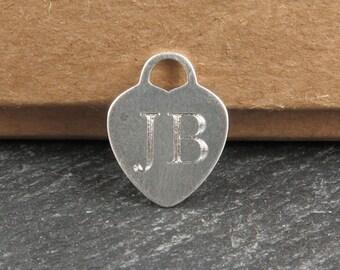 Personalised Engraved Sterling Silver Heart Pendant 16mm (CG8937-EN)