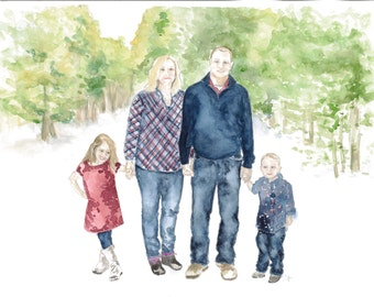 Custom Painted Family Portrait or Architectural Building