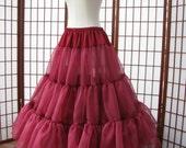 Petticoat Plum Organza Single Layer -- RESERVED for ephemera8-- Custom Order