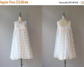 STOREWIDE SALE 1960s Lace Mini Dress / Vintage 60s White Lace and Pink Satin Party Dress / 60s Dress