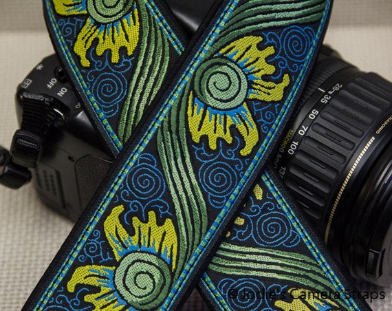 Baroque Camera Strap 2 in Wide Custom Padded Fits DSLR SLR