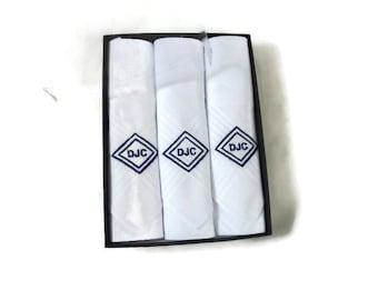 Monogrammed Handkerchief. Double Diamond Monogram Handkerchief. Mens Monogrammed Handkerchief. Monogram Handkerchief.Mens Handkerchief.