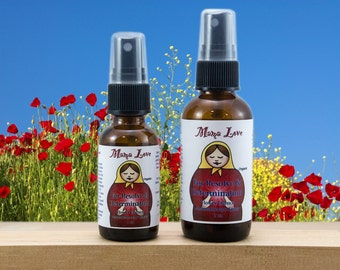 Resolve and Determination, Organic, Flower Essence Aromatherapy Spray, Reiki-Infused, with Bach Flowers and Essential Oils