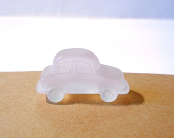 Vintage Dimensional Frosted Acrylic Car Figurine Piece