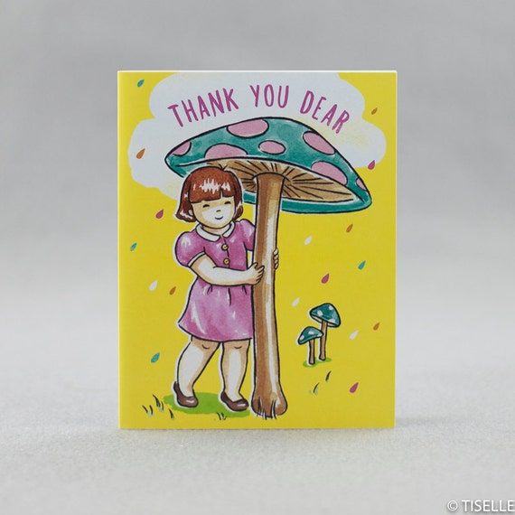 Offset Thank You Cards, Mushroom Friend