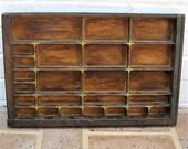 Antique Vintage Letterpress Tray Vintage Knick Knack Shelf Vintage Shadow Box Reserved For Rtbell1 Please Do Not Buy