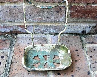 Antique Vintage Metal Soap Dish Hanging Metal Soap Dish