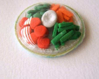 miniature packaged play food - dome vegetable tray with ranch dressing