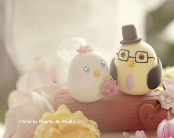 love bird wedding cake topper.with flower tree, Wedding Cake Topper (K320)