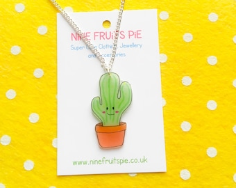Medium super kawaii cactus earrings