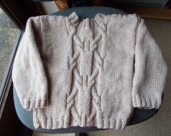 Child's hand knitted sweater/child's  hand knitted  jumper  child's cable jumper,