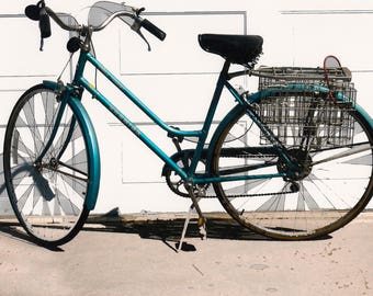 Blue Basket Bicycle Digital Print on Fuji Paper