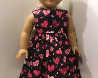 HEARTS II - 18-Inch Doll Dress
