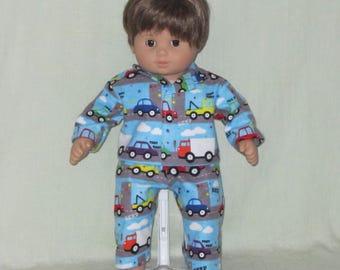 American Girl Bitty Baby Twin Boy Doll Pajamas Traffic Jam