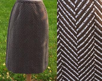 Womens Mod 60s Plaid Skirt Elastic Waist