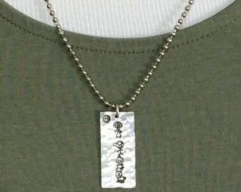 Design your Stick Family Pendant Necklace  choose up to 8 symbols