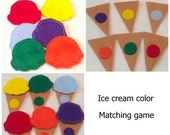BLACK FRIDAY Color matching game - toddler learning activity for busy bags - kids learning toy - educational quiet game - home schooling #38
