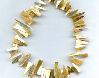 Natural Mother of Pearl Beads- Full Strand - Mother of Pearl Beads - 16 to 25mm