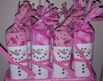 Snowman Soup, Hot Chocolate, Hot Cocoa, Bar, Party Favor, Stocking stuffer, Valentine's Party, Valentine's  treat, 20 pack