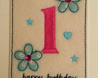 Age 1 - 1st Birthday Card