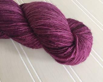 Burgundy Sparkle Yarn