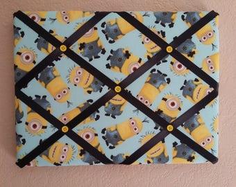 Minion Memory Board/Despicable Me//Kids Room/Boys Room/Minion decor/Despicable Me decor